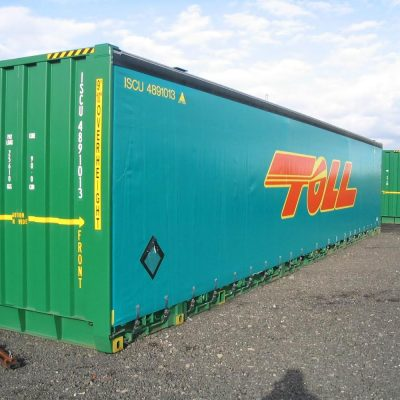 Container Curtain Truck Polyweld